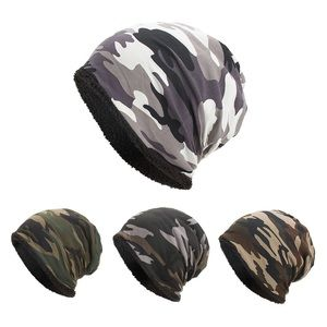 Soft Camouflage Fleece Lined Unisex Beaniep